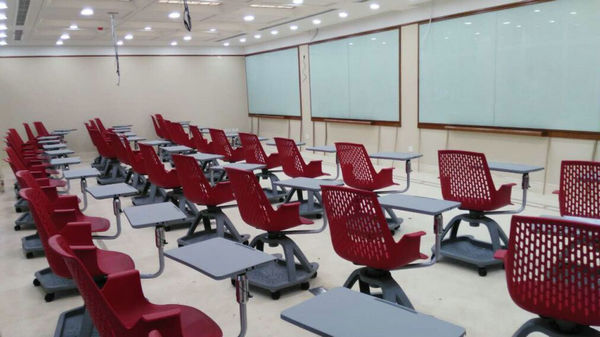 Modern Plastic Training Student Chairs With Writing Pad