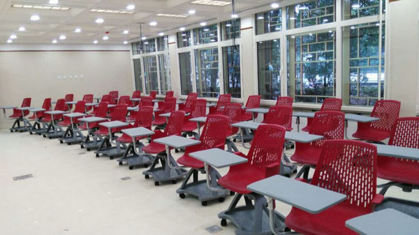 Modern Classroom Certified Trainer ~ Modern plastic training student chairs with writing pad